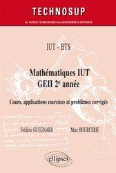 Dernières parutions dans Technosup, IUT - BTS - Mathématiques IUT GEII 2e année -