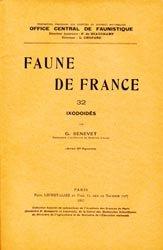 Dernières parutions dans Faune de France, Ixodoidés