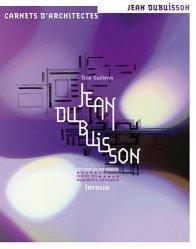 Dernières parutions dans Carnets d'architectes, Jean Dubuisson