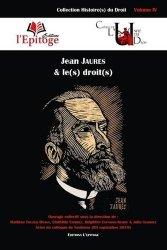Dernières parutions sur Autres ouvrages de philosophie du droit, Jean Jaurès et le(s) droit(s)