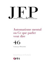 Dernières parutions sur Agressions - Victimologie, JFP Journal français de psychiatrie, n° 46