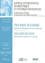 Dernières parutions sur Médecine, Journal International de Bioéthique Volume 29 N° 3-4, septembre-décembre 2018 : Transhumanisme. Approche pluridisciplinaire d'une nouvelle utopie
