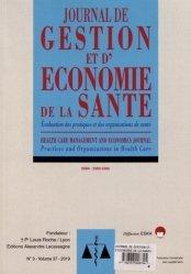 Dernières parutions sur Médecine, Journal de gestion et d'économie de la santé Volume 37 N° 3/2019