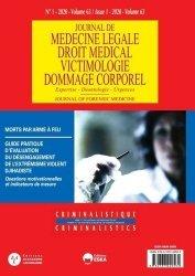 Dernières parutions sur Médecine légale, Journal de médecine légale Volume 63 N° 1/2020 : Morts par arme à feu