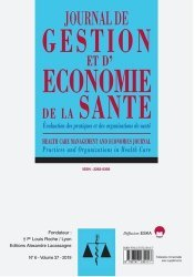 Dernières parutions sur Médecine, Journal de gestion et d'économie de la santé Volume 37 N° 6-2019 : Evaluation des pratiques et des organisations de sante-jges 6-2019