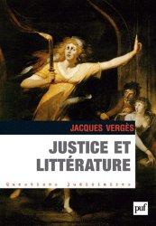 Dernières parutions dans Questions judiciaires, Justice et littérature