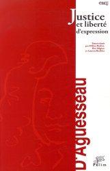 Dernières parutions dans Entretiens d'Aguesseau, Justice et liberté d'expression
