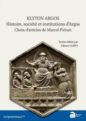 Dernières parutions dans Scripta Antiqua, Klyton Argos