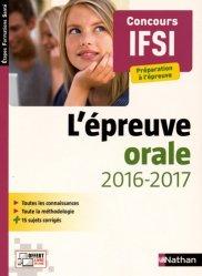 Nouvelle édition L'épreuve orale 2016-2017