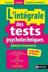Dernières parutions sur Tests psychotechniques, L'intégrale des tests psychotechniques