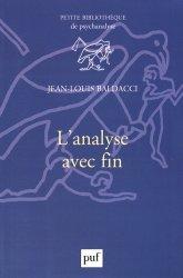 Dernières parutions dans Petite bibliothèque de psychanalyse, L'analyse avec fin https://fr.calameo.com/read/004967773f12fa0943f6d