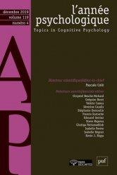 Dernières parutions sur Psychologie, L'année psychologique N° 1194, décembre 20 - Grand Format