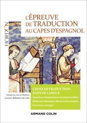 Dernières parutions dans Horizon, L'épreuve de traduction au Capes d'espagnol - Choix de traduction
