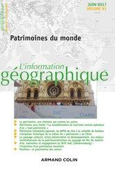 Dernières parutions dans L'information géographique, L'information géographique (2/2017) Patrimoines du monde