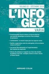 Dernières parutions dans L'information géographique, L'Information géographique (4/2019) Varia