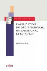 Dernières parutions dans Méthodes du droit, L'application du droit national, international et européen