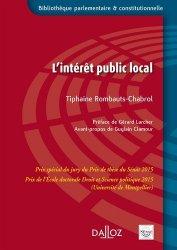 Dernières parutions dans Bibliothèque parlementaire et constitutionnelle, L'intérêt public local