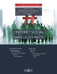 Dernières parutions dans Dalloz Grand angle, L'intérêt social dans la loi PACTE