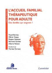 Dernières parutions dans Cahiers de Sainte-Anne, L'accueil familial thérapeutique pour adulte