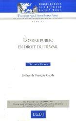 Dernières parutions dans Bibliothèque Institut Tunc, L'ordre public en droit du travail