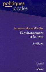 Dernières parutions dans politiques locales, L'environnement et le droit. 2e édition