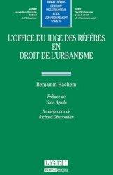 Dernières parutions dans Bibliothèque de droit de l'urbanisme et de l'environnement, L'office du juge des référés en droit de l'urbanisme