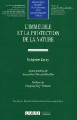Dernières parutions sur Droit de l'urbanisme, L'immeuble et la protection de la nature