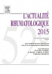 Dernières parutions dans L'Actualité Rhumatologique, L'actualité rhumatologique 2015