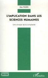 Dernières parutions dans Cognition et Formation, L'implication dans les sciences humaines. Une clinique de la complexité