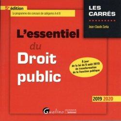 Dernières parutions dans Les Carrés, L'essentiel du droit public. 5e édition