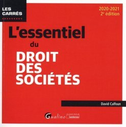 Dernières parutions dans Les Carrés, L'essentiel du droit des sociétés