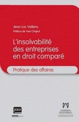 Dernières parutions dans Pratique des affaires, L'insovabilité des entreprises en droit comparé