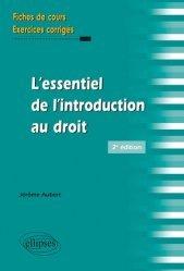 Dernières parutions sur Introduction au droit civil, L'essentiel de l'introduction au droit. 2e édition
