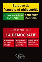 Nouvelle édition L'essentiel sur la démocratie. Aristophane, Les Cavaliers, L'Assemblée des femmes - Tocqueville, De la Démocratie en Amérique