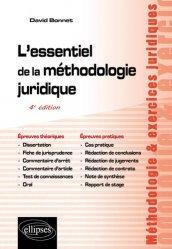 Dernières parutions sur Méthodes de travail, L'essentiel de la méthodologie juridique. 4e édition