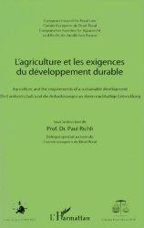 Dernières parutions dans Droit et Espace Rural, L'agriculture et les exigences du développement durable