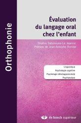 Dernières parutions dans , L'évaluation du langage oral chez l'enfant