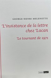 Dernières parutions sur Lacan, L'instance de la lettre chez Lacan