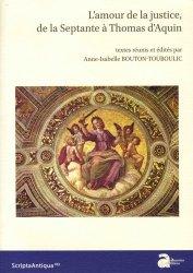 Dernières parutions dans Scripta Antiqua, L'amour de la justice, de la Septante à Thomas d'Aquin