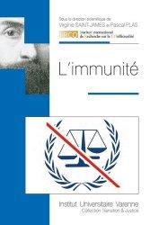 Dernières parutions dans Transition & justice, L'immunité