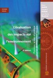 Souvent acheté avec Écologie du paysage, le L'évaluation des impacts sur l'environnement