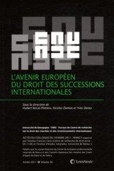 Dernières parutions dans Travaux du CREDIMI, L'avenir européen du droit des successions internationales