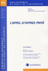 Dernières parutions dans Bibliothèque de droit de l'entreprise, L'appel d'offres privé