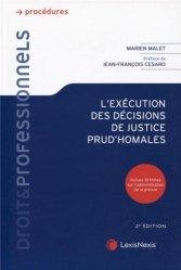 Dernières parutions dans Droit & Professionnels, L'exécution des décisions de justice prud'homales