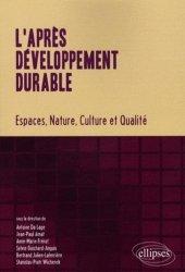 Nouvelle édition L'après développement durable