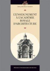 Dernières parutions dans Art et société, L'enseignement à l'Académie royale d'architecture