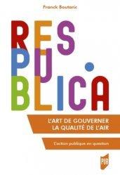 Dernières parutions dans Res Publica, L'art de gouverner la qualité de l'air