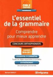 Souvent acheté avec Concours orthophonie : français 2017, le L'essentiel de la grammaire - Concours orthophoniste