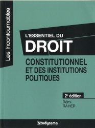 Dernières parutions dans Les Incontournables, L'essentiel du droit constitutionnel et des institutions politiques. 2e édition