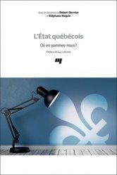 Dernières parutions sur Droit international public, L'état québécois. Où en sommes-nous?